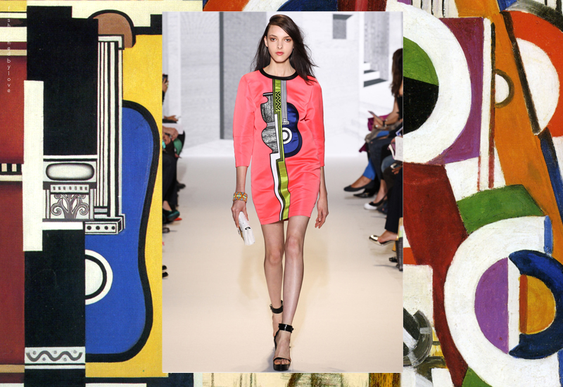 Andrew Gn Spring/Summer 2014 is a mix of Gio Ponti, Carlo Mollino, Fernand Leger, Georges Braque, Pablo Picasso and Teter Doig