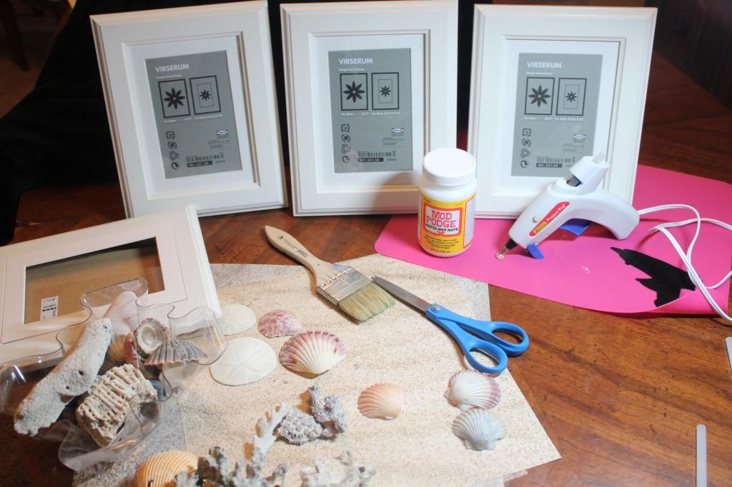 El Desván de Manuela: DIY...cuadros con conchas
