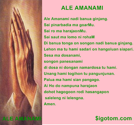 Doa Bapa Kami Dalam bahasa Batak ( Toba )