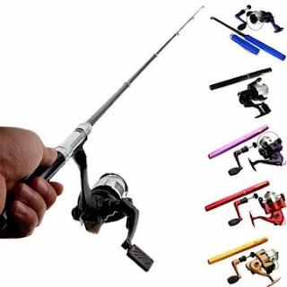 Alat Pancing Mini Portabel | Pen Fishing Rod