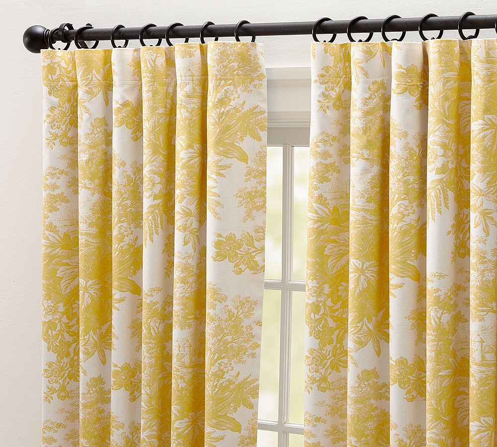 Yes, they are the SAME drapes, just in yellow. Get oves.