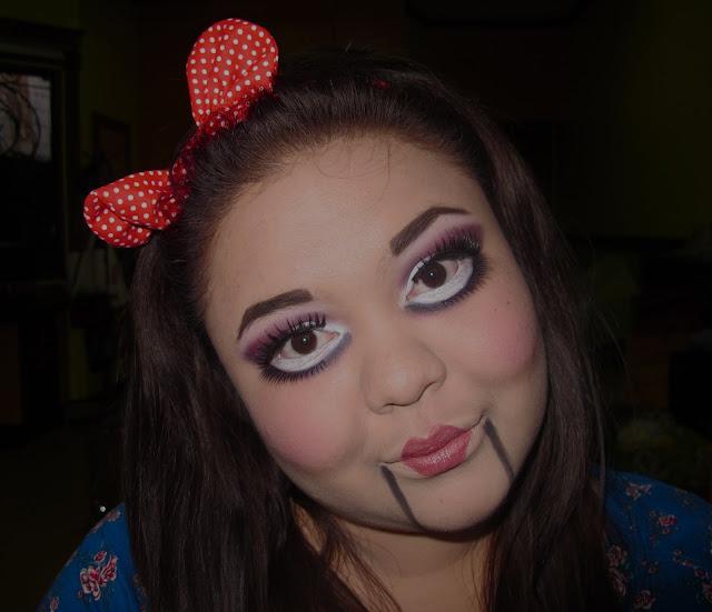 Creepy baby doll makeup