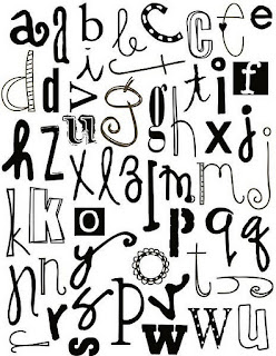 Diferentes tipos de letras para recortar