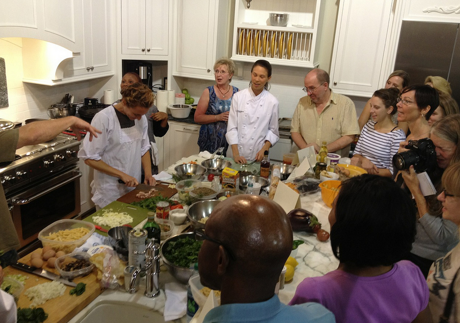 photo of a cooking demonstration for Eat Drink Read Write