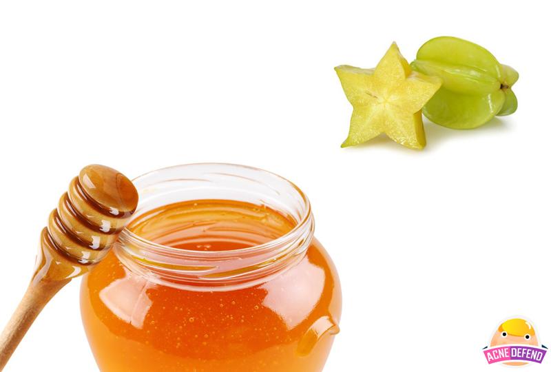 สูตรพอกหน้าลดรอยสิวมะเฟือง + น้ำผึ้ง