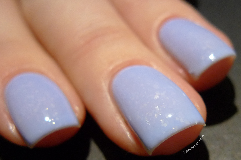 Dance Legend Mist Way Get Bored perwinkle light blue flakie nail polish