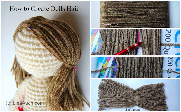 crochet dolls hair easy