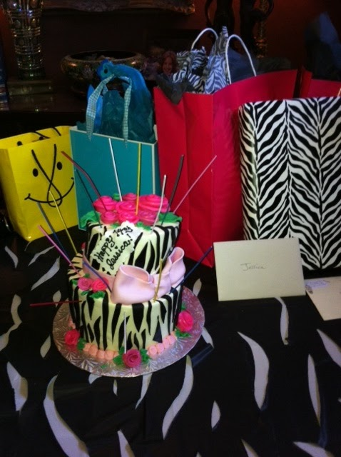 Owner And Cake Artist : Leah s Sweet Treats: Topsy Turvy Zebra Cake