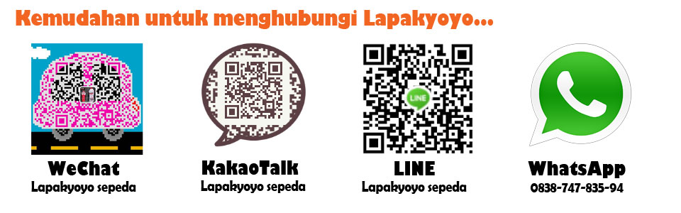 Kemudahan dalam menghubungi kami via wechat, kakaotalk, line dan whatsapp