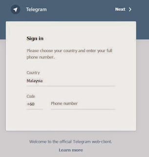 Guna Telegram Messenger di Dekstop Komputer, Guna Telegram di PC