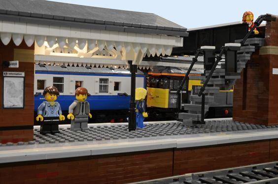 Fareham station in Lego