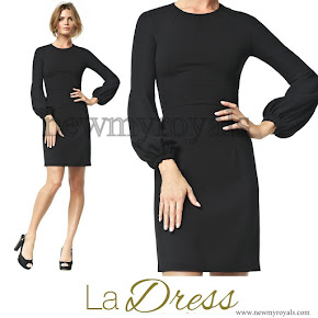Queen Maxima Style LA DRESS Maria schwarz dress