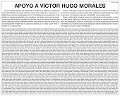 SOLICITADA DE LA FACULTAD DE PERIODISMO EN APOYO A VICTOR HUGO MORALES