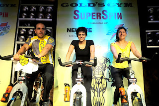Mandira Bedi graces Gold's Gym promotion