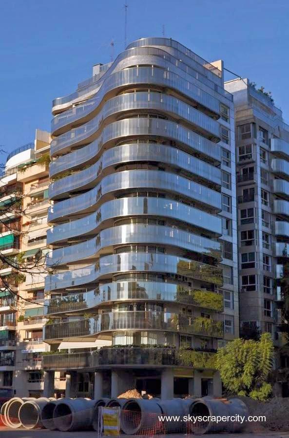 Fachada de un edificio residencial en la Ciudad de Buenos Aires