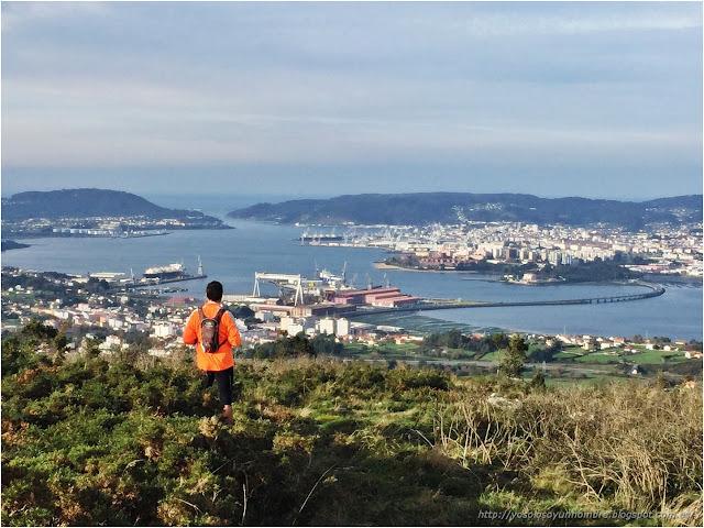 Vista desde Coto do Rei, el punto más alto de la ría