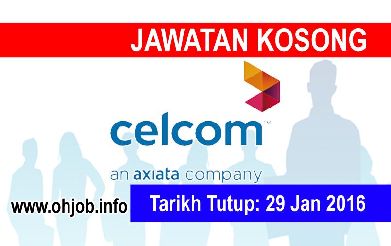 Jawatan Kerja Kosong Celcom Axiata Berhad logo www.ohjob.info januari 2016
