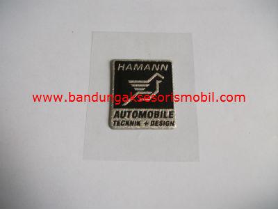 Emblem Metalic Kotak Kecil Hamann