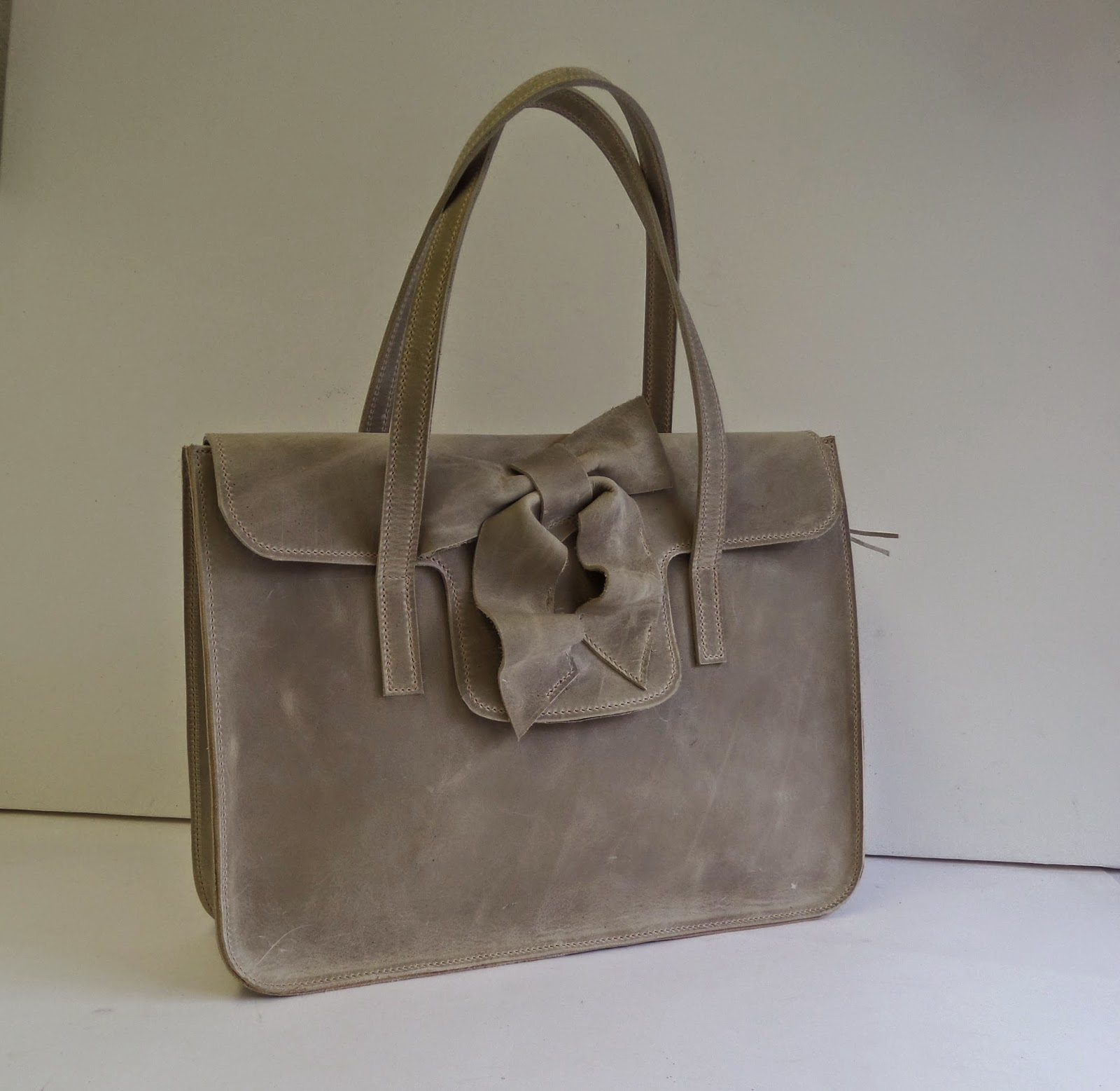 Handmade leather briefcase for women