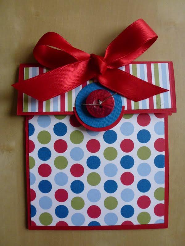 crafty thinker  parcel gift card holder