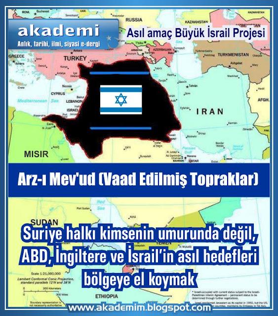 Suriye halkı hiç kimsenin umurunda değil, asıl hedef bölgeye el koymak, Büyük Ortadoğu kılıfı ile Büyük İsrail'i kurmak