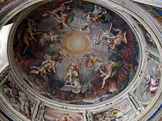 circular painting on the ceiling of the sistine chapel