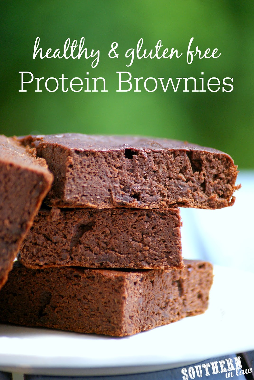 Gluten Free Protein Brownies   gluten free, low fat, low carb, flourless, clean eating recipe, high protein