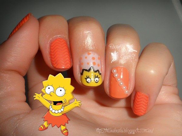 Los simpsons nail art