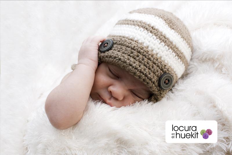 locura en el huekit: Gorro Crochet bebés paso a paso