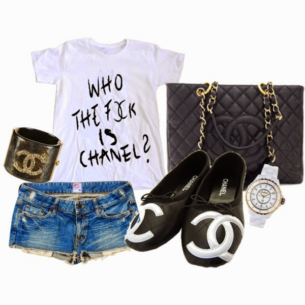 'WHO THE F*CK IS CHANEL' WHITE T-SHIRT / TANK