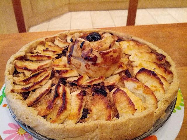 Apple Tart, Italian apple pie, home made Apple tart