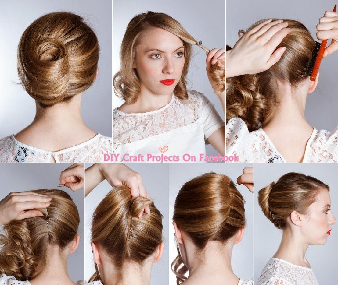 Como hacer un torcido frances facil y rapido peinado para pelo corto  - Peinados Banana Paso Paso
