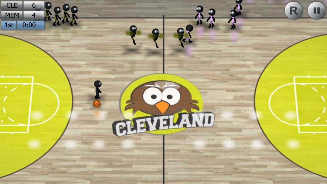 Android Stickman Basketball Apk resimi 2