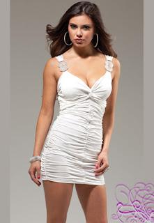 robe courte blanche sexy