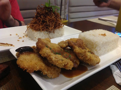 adobo flakes and pork schnitzel
