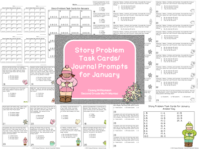 http://www.teacherspayteachers.com/Store/Second-Grade-Math-Maniac/Category/Monthly-Story-Problem-Task-Cards