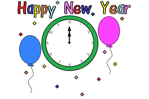 happy new year 2016 clipart template 1st january 2016