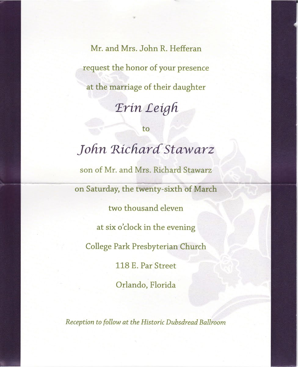 My Life Scanned: Erin\'s Wedding Invitation