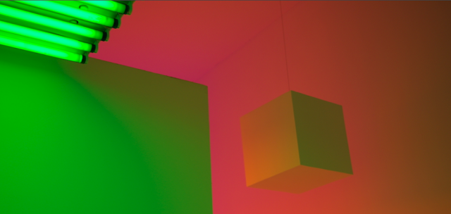Carlos Cruz-Diez, 'Chromosaturation' (detail). Photo Author's Own.