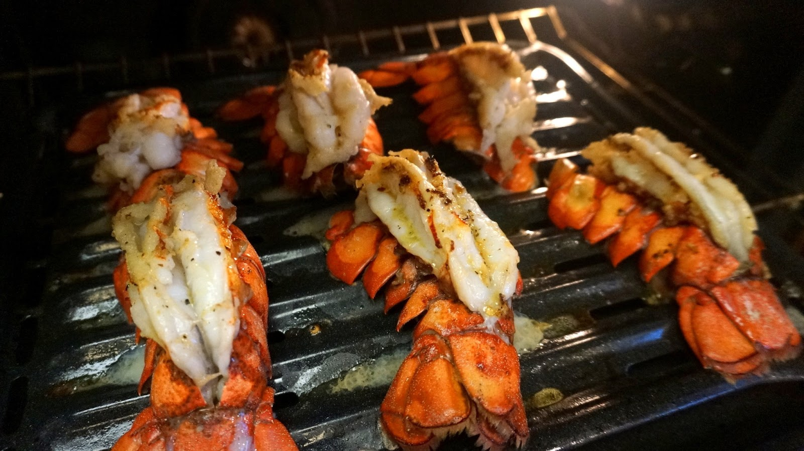 Recipe: Butterflied Lobster Tails With Lemon Garlic Butter Sauce and Summer Basil Pasta Salad