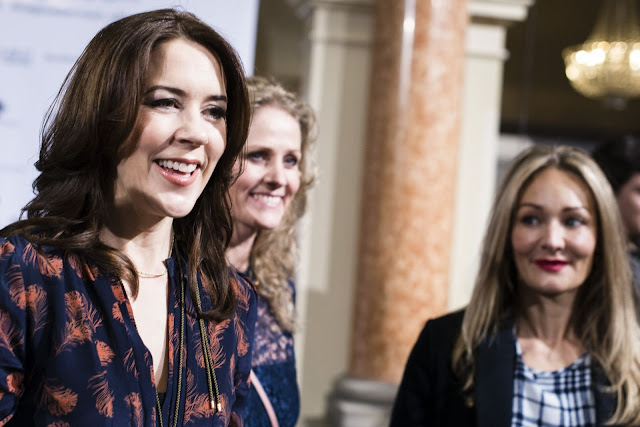 Crown Princess Mary of Denmark visits the design student collections Designers Nest on January 30, 2015 in Copenhagen.