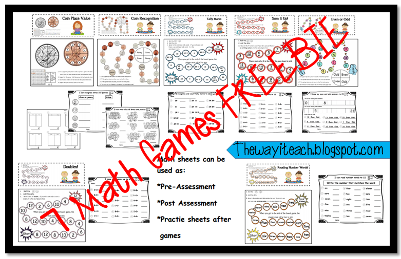 Kindergarten Math Freebie !st grade Math Freebie