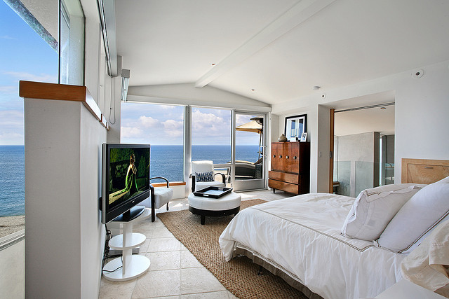 Photo of master bedroom with the view