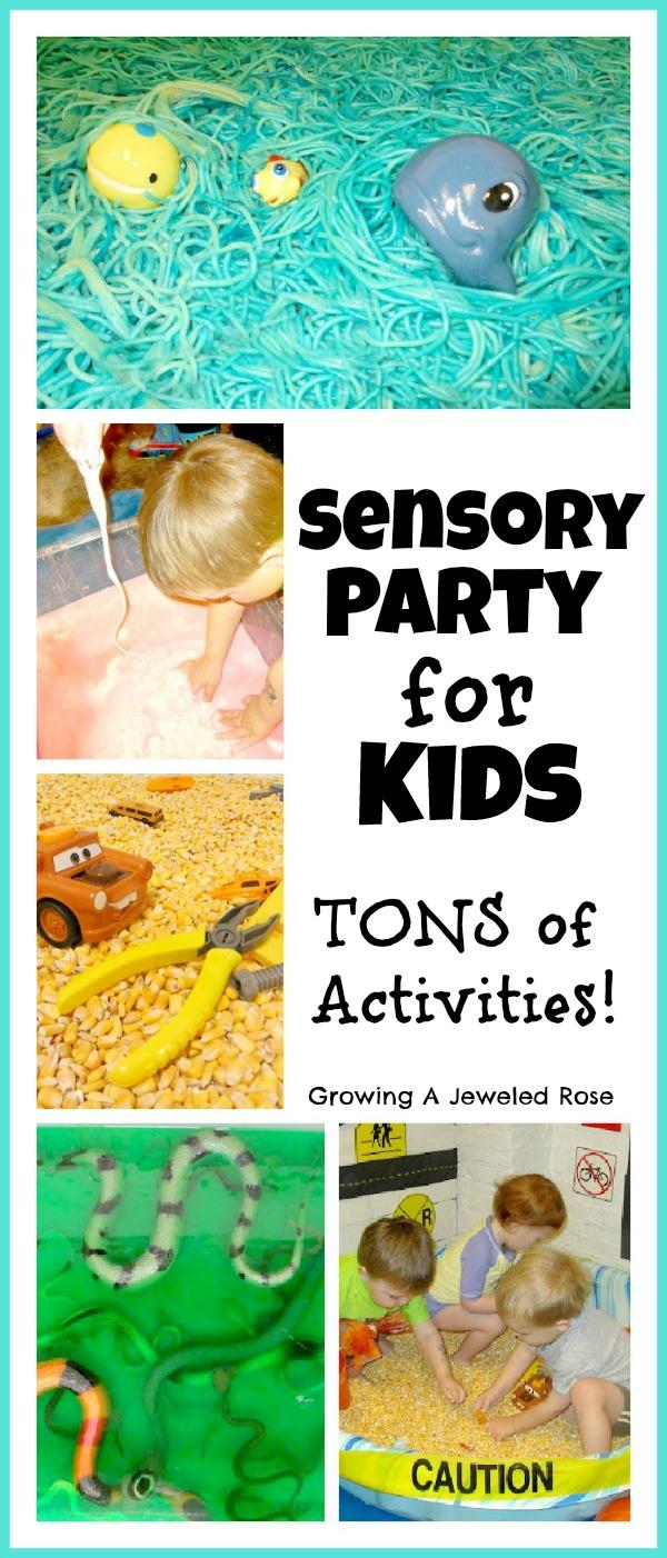 how to set up sensory play