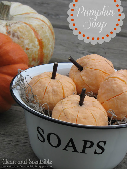 Pumpkin soaps from Clean & Scentsible are not only a perfect and easy fall craft but they're great for gifts too