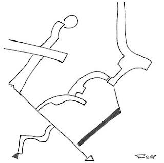 Zeichnung Bild / painting picture : einfach abwärts / simply downwards