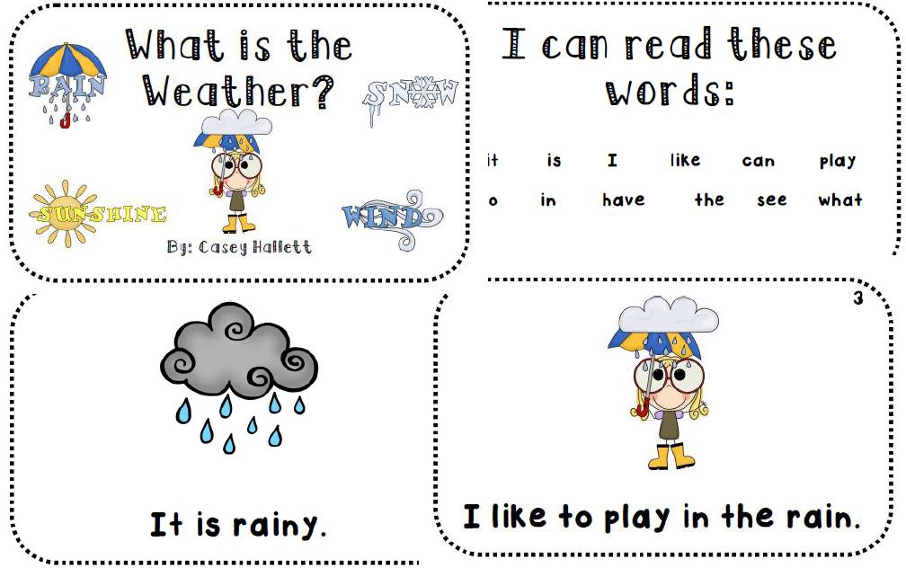 To Download Whats The Weather Emergent Reader Text