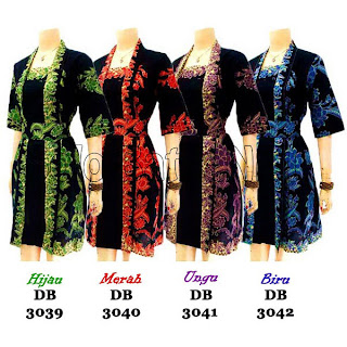 DB3039-3042 - Model Baju Dress Batik Modern Terbaru 2013