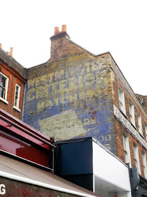 westminster gazette gillette criterion matches ghost sign stoke newington