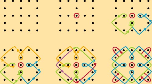 Rangoli Designs Using Dots, Dots Rangoli Designs, Diwali Rangolis with ...